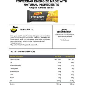 PowerBar Energize Made with Natural Ingredients Bar Box 25x55g, Original Vanilla Almond